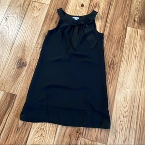 H&M black lined shift dress with bow